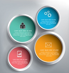 Abstract 3D circle infographics design vector