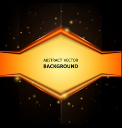 abstract yellow and black background vector image vector image