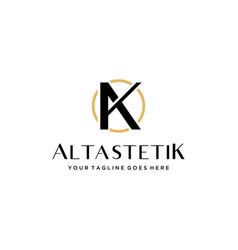 ak logo vector image