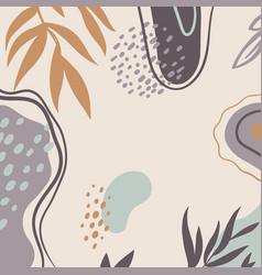 Background with abstract plant pattern vector