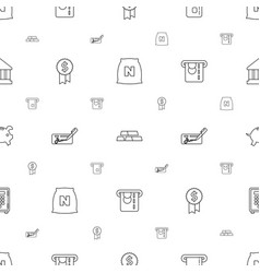 Banking icons pattern seamless white background vector