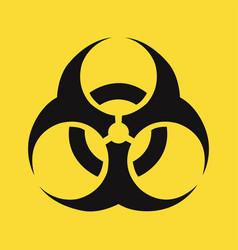 Biohazard sign isolated yellow background vector