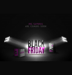 black friday 70 percent sale banner vector image