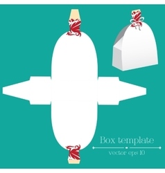 box template White and red dress vector image