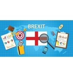 brexit british exit from european organization vector image