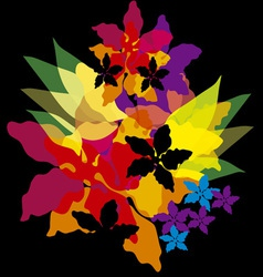 bright abstract flowers vector image vector image