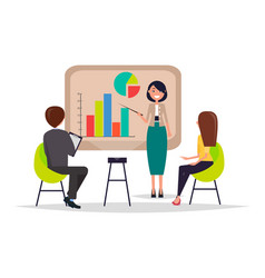 Business meeting presentation vector