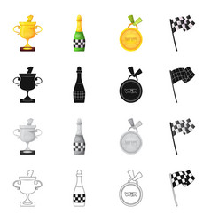 car and rally logo set of vector image