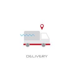cargo truck van fast delivery service vector image