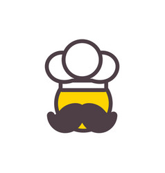 Chef pizza and food logo icon design vector