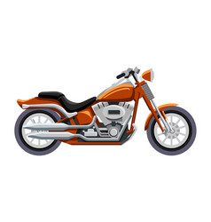 Classic motorcycle isolated on white background vector