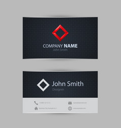 Clean dark modern business card vector