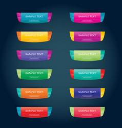 Color button set for your design vector