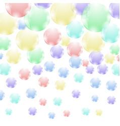 colored soap bubbles pattern vector image