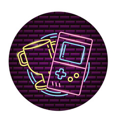 console video game neon vector image