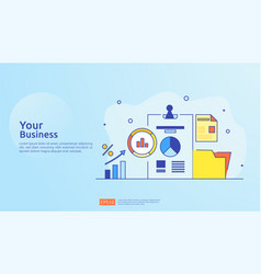 Digital marketing strategy concept business vector