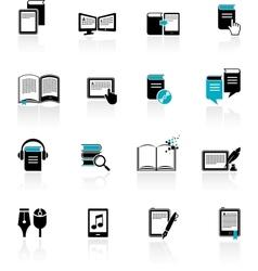 E-book audiobook vector image vector image