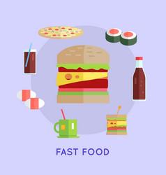 fast food conceptual vector image