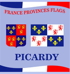 Flag french province picardy vector