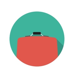 Flat Design Concept Suitcase With Long Shado vector image