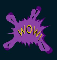 flat icon on theme comic speech bubble vector image vector image