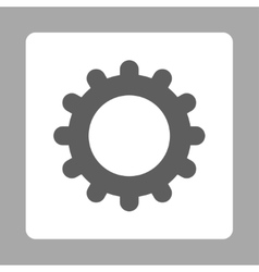 Gear flat dark gray and white colors rounded vector