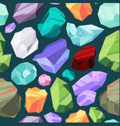 gemstones pattern luxury ruby diamond crystal vector image