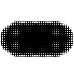 grid pill shape in graphical black and white hatch vector image