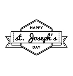 Happy St Josephs day greeting emblem vector