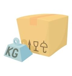 Hard box icon cartoon style vector