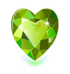 Heart cut gemstone shape isolated on white vector
