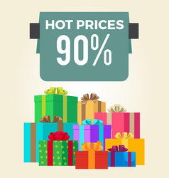 Hot prices 90 off total final sale discouts label vector