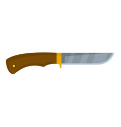 hunting knife icon flat style vector image