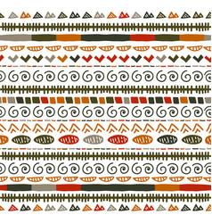 ikat geometric stripe pattern tribal ethnic theme vector image