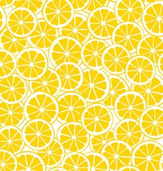 lemon slices seamless pattern vector image
