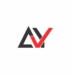 Letter ay check mark design logo vector
