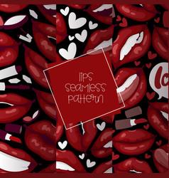 lip seamless pattern cartoon beautiful red vector image
