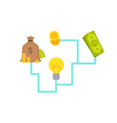 money and investment system vector image