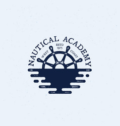nautical logo vector image