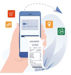 Online bill payment banking internet vector