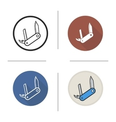 Penknife icons vector