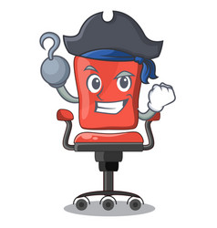 Pirate character office desk chair in indoor vector