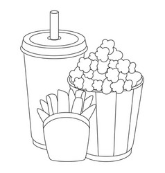 pop corn bucket icon vector image