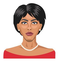 pretty lady with short hair on white background vector image