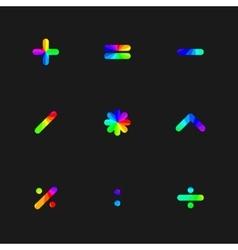 Rainbow symbols vector