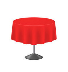 realistic detailed 3d blank red round table vector image