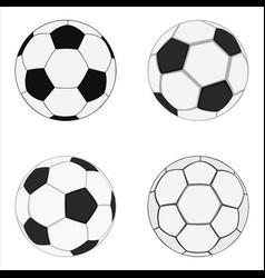 Realistic soccer balls vector