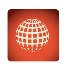 red emblem global planet icon vector image