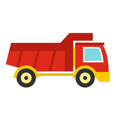red toy truck icon isolated vector image
