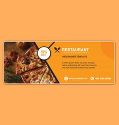 Restaurant free cover template design vector